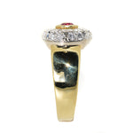 18kt Yellow Gold Ruby & Diamond Fashion Ring
