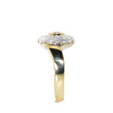 18kt Two Tone Diamond Lock Ring