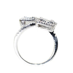 18kt White Gold Diamond Bypass Ring