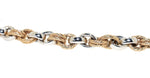 yellow gold and white gold Italian link bracelet