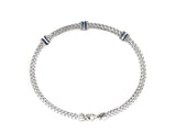 14kt White Gold Stackable Diamond Bracelet