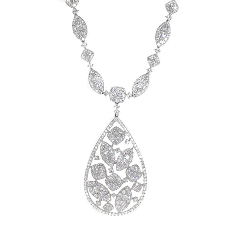 white gold 10 carat diamond necklace