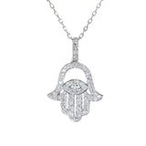 white gold diamond hand of god pendant