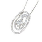 white gold diamond fashion pendant
