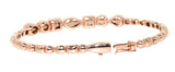 rose gold multi shape diamond bangle bracelet