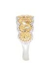 white gold and yellow gold fancy yellow and white diamond ring