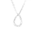 white gold pear-shaped diamond pendant