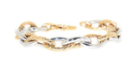 yellow gold and white gold link bracelet
