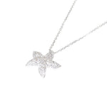 white gold diamond starfish pendant and chain