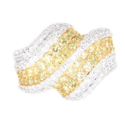 white gold fancy yellow diamond ring