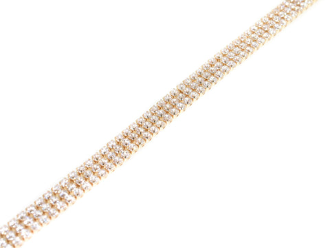 yellow sterling silver triple row cz tennis bracelet