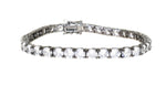 black rhodium plated sterling silver round cz tennis bracelet
