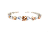 Sterling Silver Graduated Champagne CZ Tennis Bracelet