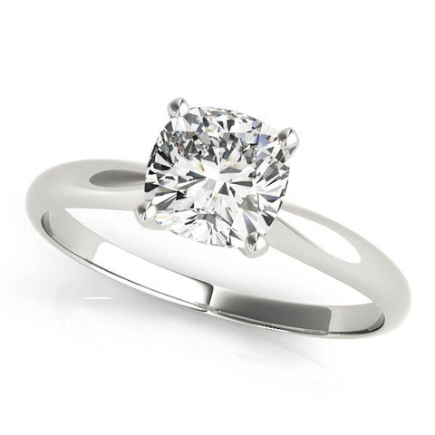 white gold cushion cut solitaire engagement ring