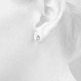 white gold GIA Certified Pear Shape Diamond Stud Earrings
