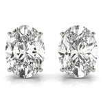 platinum GIA Certified Oval Diamond Stud Earrings