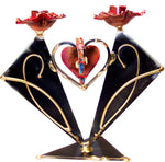 gary rosenthal wedding heart shabbat candleholder with wedding keepsake