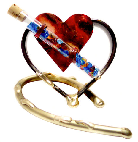 gary rosenthal small heart wedding keepsake with tube for wedding glass