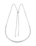 white gold diamond bolo necklace