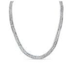 white gold triple row diamond tennis necklace