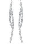 white gold diamond drop earrings