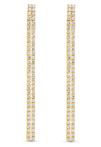 18kt Yellow Gold Diamond Double Bar Earrings (2.70 ctw)