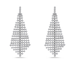 white gold diamond chandelier earrings