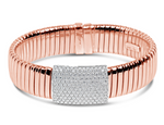 rose gold diamond bangle bracelet