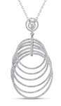 white gold circle diamond statement pendant