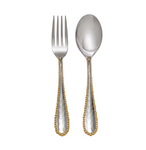 Michael aram molten gold serving set fork and spoon