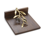 Michael aram olive branch wooden dinner napkin holder