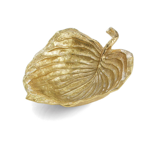 Michael aram gold new leaves hosta medium serving bowl