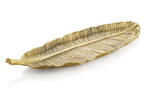 Michael aram gold new leaves banana leaf large platter