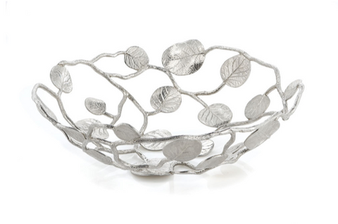 Michael aram botanical leaf bread basket
