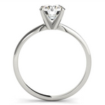 white gold solitaire engagement ring for a round diamond