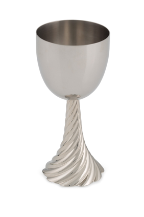 silver Michael aram twist kiddush cup