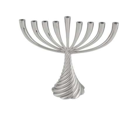 silver Michael aram twist menorah