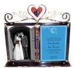 gary rosenthal double frame heart wedding picture frame with glass tube