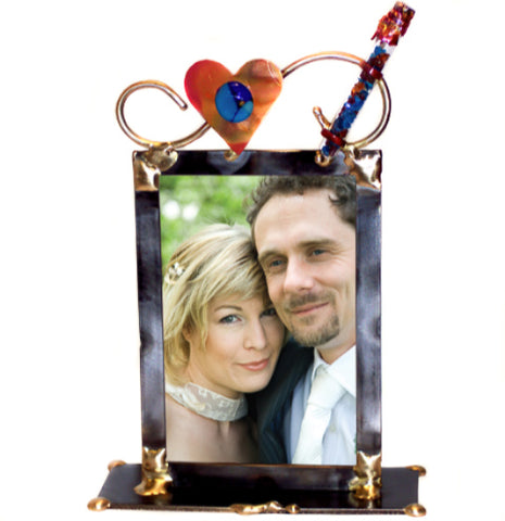gary rosenthal wedding picture frame with glass tube