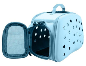Narrow Shelled Perforated Lightweight Collapsible Military Grade Transportable Designer Pet Carrier - US │ The World Of Giulio Pet Supplies & Products