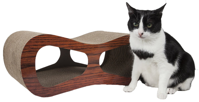 Pet Life Cat-Eyed Ultra Premium Contoured Lounger Designer Cat Scratcher - US │ The World Of Giulio Pet Supplies & Products