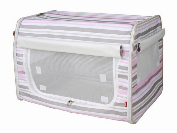 Folding Zippered Lightweight Wire-Framed Easy Folding Pet Crate - US │ The World Of Giulio Pet Supplies & Products