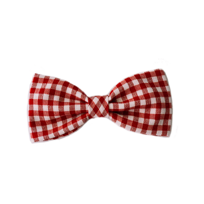 Red & White Checked Pet Bow Ties by Picciotto Papillon │ The World Of Giulio Pet Supplies & Products