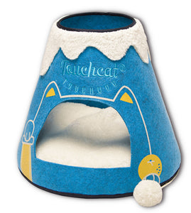 Touchcat Molten Lava Designer Triangular Cat Bed House With Toy - US │ The World Of Giulio Pet Supplies & Products