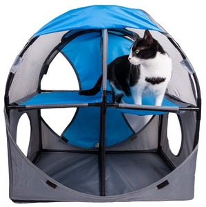Pet Life Kitty-Play Obstacle Travel Collapsible Soft Folding Pet Cat House - US │ The World Of Giulio Pet Supplies & Products