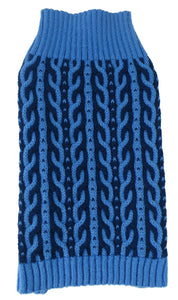 Harmonious Dual Color Weaved Designer Dog Sweater - US │ The World Of Giulio Pet Supplies & Products