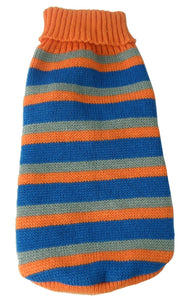 Heavy Cable Knit Striped Fashion Polo Dog Sweater - US │ The World Of Giulio Pet Supplies & Products