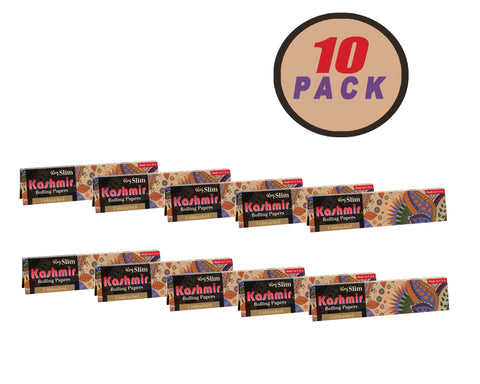 Kashmir Rolling Papers - Unbleached King Slim 10 Pack