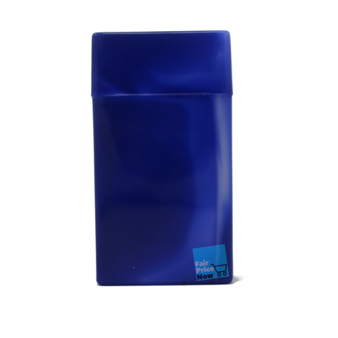 Blue Top Flip Open Plastic Cigarette Case Pack Holders