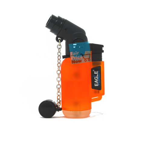 Angle Eagle Jet Flame Butane Torch Lighter Refillable Windproof Orange